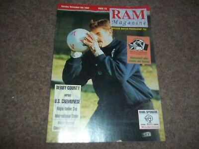 Derby County V U.s.cremonese Anglo Italian Cup 8Th December 1992