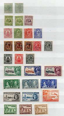 TURKS & CAICOS ISLANDS   QV to KGVI   29 DIFFERENT MNH / MH STAMPS
