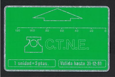 Spain 1981 600 Pta  120 units mint Landis & Gyr D1 control No 261 4,000 issued.