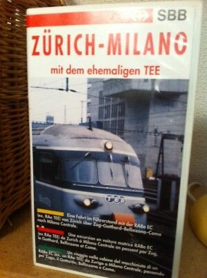Railroad VHS from driverseat/railcamera Zürich-Milano with old TEE train (1992)
