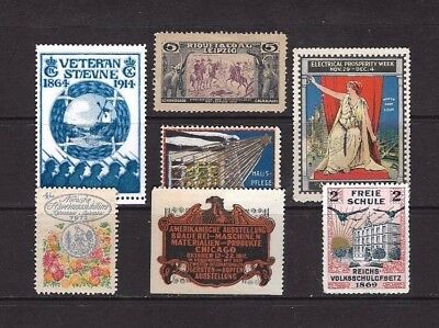 Cinderella Stamps x 7 from 1911 Unmounted Mint.