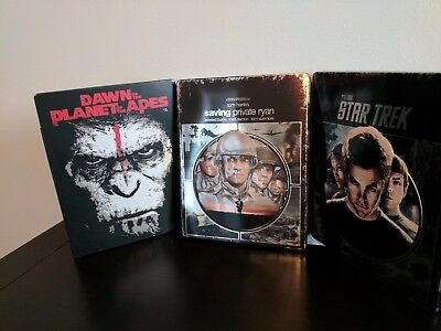 Lot of 3 Metalpak Blu Rays Collectible Metal Packaging - Star Trek and more