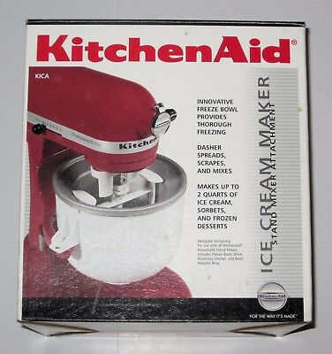 KitchenAid ice cream maker for stand mixers, model KICA0WH