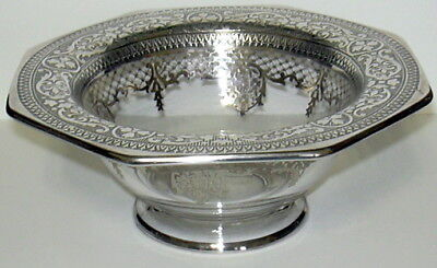 Silver Overlay Mayonaise Bowl Intricate Design Perfect Condition Nr