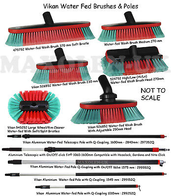 Vikan Water Fed Brush Waterfed Water-Fed Wash Brushes & Poles / Handles