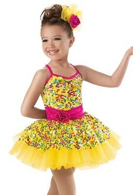 Weissmans Multi Color Dance Costume Tap Jazz Solo Small Child