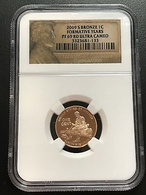 2009 S Bronze One (1) Cent Formative Years PF 69 RD Ultra Cameo NGC