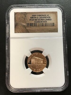 2009 S Bronze One (1) Cent Birth & Childhood PF 69 RD Ultra Cameo NGC