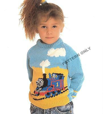 Knit This Thomas The Tank Engine Jumper For Boys And Girls - Pattern Only