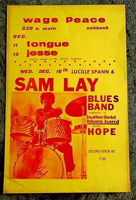 Sam Lay Band Poster-Hope-Oshkosh, Wisconsin-Lucille Spann-1980-Butterfield Blues