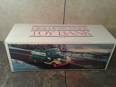 Vintage 1985 First Hess Truck Toy Truck Bank - Original! New w/Box!