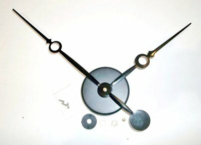 "High Torque Clock Movement (Silent) with 9-1/4"" Fancy Sword Hands w/Wall Mount"
