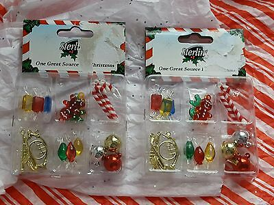 New Lot of 2 Boxes of 18 Miniature Christmas Mini Tree Ornaments 36 Total