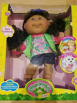 """Cabbage Patch Kids 14"""" Girl, Adventure, African American Brown Eyes- NEW FASHION"""