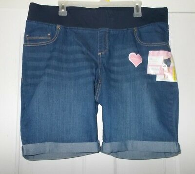 Women's Size S, M, OR XL  Great Expectations Maternity Bermuda Jean Shorts New