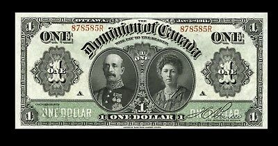 1911 CANADA DOMINION OF CANADA $1 BOVILLE DC-18d Choice About Uncirculated