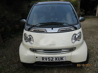 Smart Passion Softouch Auto Coupe White - new MOT - NO RESERVE -