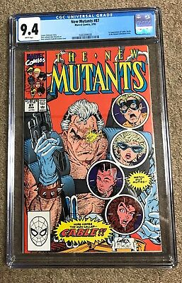#87 New Mutants CGC 9.4 1st Cable Hot Movie Nice