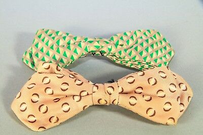 Lot of 2 Vintage Mid Century Clip On Bow Ties - Ormond, NYC & Wembley
