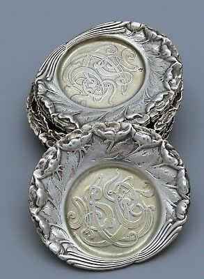 Set of 12 TIFFANY AESTHETIC  STERLING Butter Dishes 17 oz c1880