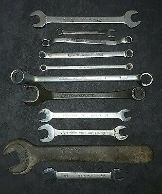 Vintage Proto Ford Cresent Boyd Craftsman Walter Williams  VLCHECK wrench 11 Pcs