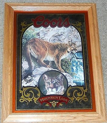 Coors Beer Mirror Sign - Mountain Lion