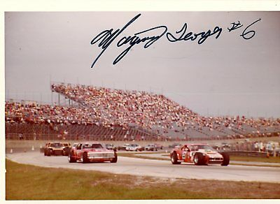 Maynard Troyer Autograph Orig 1970s 5x3.5 Photo NASCAR Modified 4525