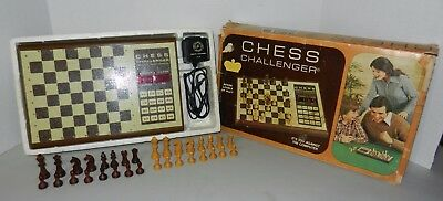 Vintage 1970s Fidelity Electronic Chess Challenger Set Clean & Working w/ Box
