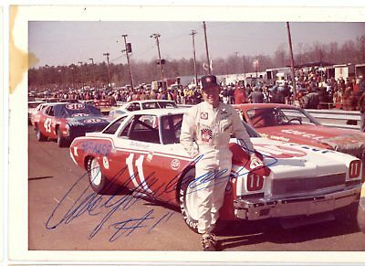 Cale Yarborough Autograph Orig 1970s 5x3.5 Photo NASCAR Modified 4531