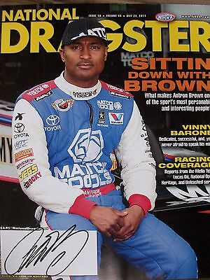 National Dragster Magazine Hero Card Signed Autographed Antron Brown Matco Tools