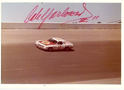 Cale Yarborough Autograph Orig 1970s 5x3.5 Photo NASCAR Modified 4532