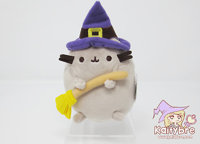 """GUND 5"""" Halloween Witch with Broomstick Pusheen Plush (Claire's Exclusive)"""