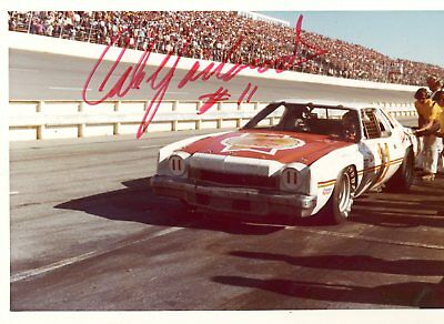 Cale Yarborough Autograph Orig 1970s 5x3.5 Photo NASCAR Modified 4534