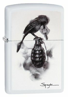Zippo Windproof Flame Art Lighter by Spazuk With Hand Grenade 29645, New In Box