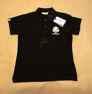 Tiger Woods Hand Signed 2014 Ryder Gleneagles Cup Shirt with COA
