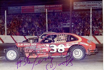 Jerry Cook Autograph Orig 1970s 5x3.5 Photo NASCAR Modified 4542