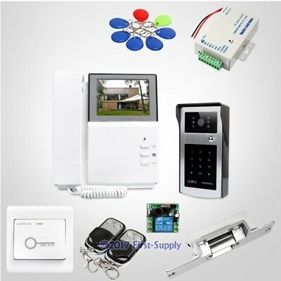 """4.3"""" Wired Video Door Entry Call System with IR Night Vision for Home Security"""