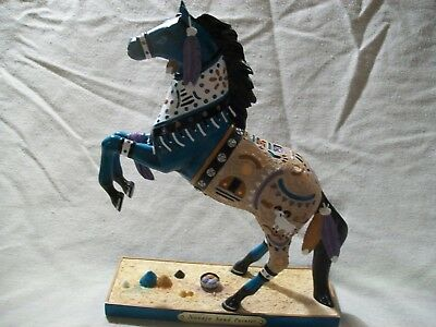 1E Trail of Painted Ponies Resin Horse Figurine 3D Navajo Sand Painter Indian
