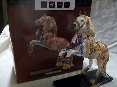 1E Trail of Painted Ponies Carries the Spirit Resin Indian Horse Figurine 3D