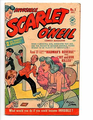Invisible Scarlet O'neil #1 (12/1950 Harvey) G/vg 3.0