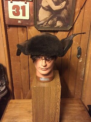 The Original Mad Bomber Shearling Leather 1970s Hat Pilot Christmas Story Winter