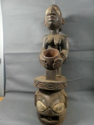 The Tribal Yoruba Epa with Offering Bowl ---- Nigeria  Fes-GB453