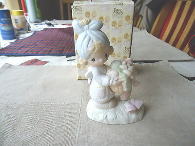 """Vintage 1979 Precious Moments """" Be Not Weary In Well Doing """"  """"IN ORIGINAL BOX"""""""