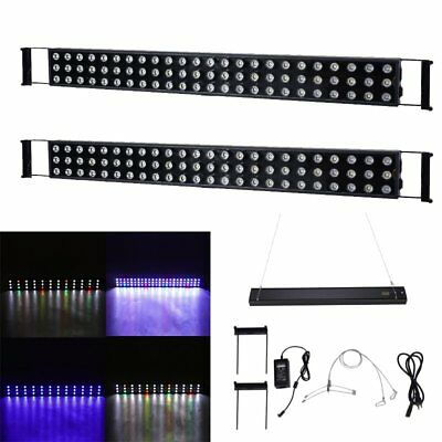 2x 216W LED Aquarium Light Dimmable Full Spectrum Marine Reef Coral SPS/LPS