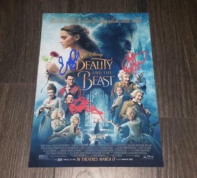 "Beauty And The Beast Pp Signed Photo Poster A4 12X8"" Emma Watson Luke Evans"