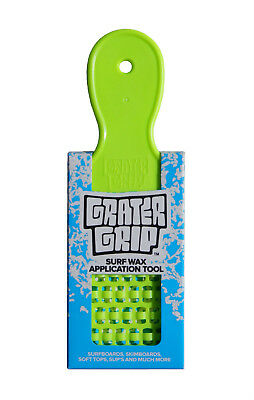 GRATER GRIP SURFBOARD WAX APPLICATION TOOL, Grate any Wax for Better Bumps, NEW