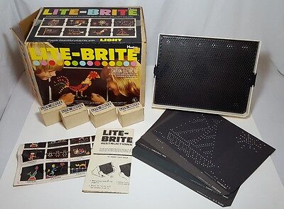 VINTAGE LITE BRITE COMPLETE With Intructions Picture Refill Pegs