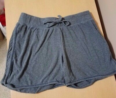Maternity lounge shorts gray size small drawstring. Excellent used condition.