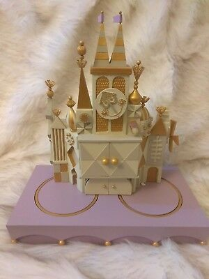 EXTREMELY RARE WDCC Disney It's A Small World Animated Clock LE 1500 W/Box&COA