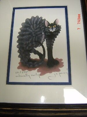"""Jamie Js  Perry """"naturally Curly"""" Limited Edition  Cat Print Pussonalities"""